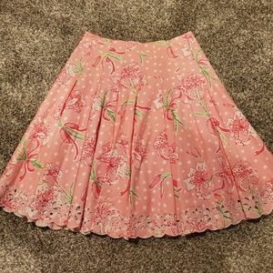 Lilly Pulitzer Pulitzer's Prize Floral Print Skirt